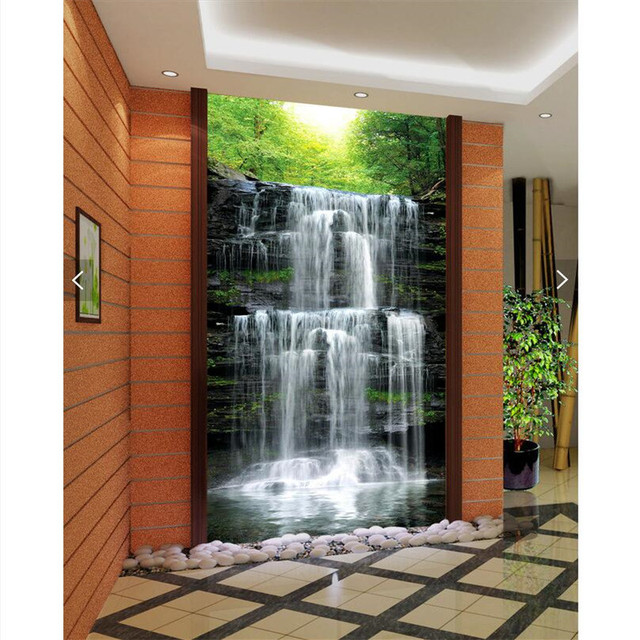 aliexpresscom buy wall paper 3d art mural hd waterfall