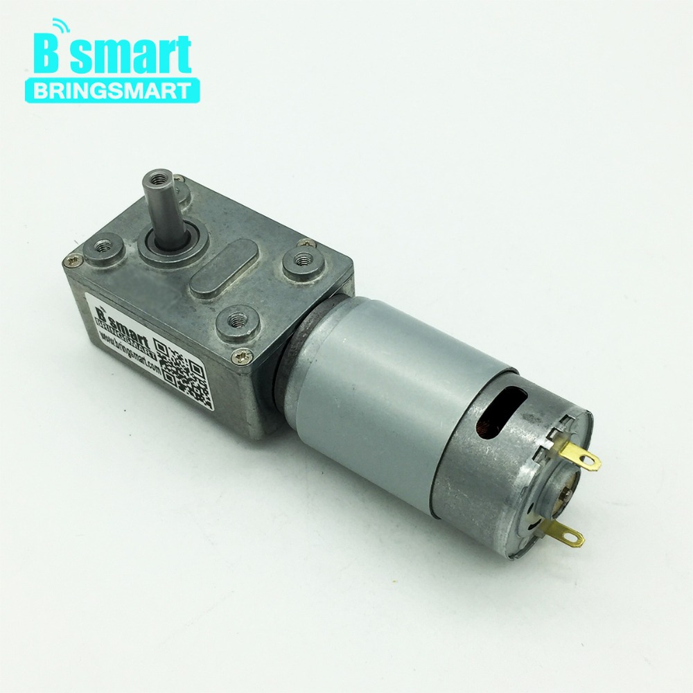 Bringsmart JGY-395 Worm Gear Motor DC 12V Turbine DC Motor Reductor 6V Mini Reduction Gearbox Self-lock Engine Geared Motors цены онлайн