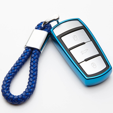 Soft TPU Car Key Cover Case For Vw Volkswagen CC Passat b6 b7 Auto Protection Shell Skin Bag Styling Accessories
