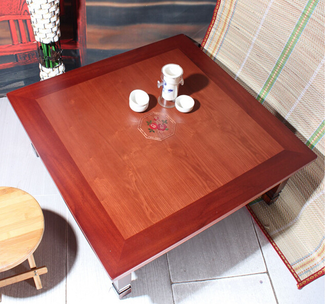 Asian Antique Furniture Korean Folding Table Legs Foldable Square 70cm Living Room Coffee For Tea