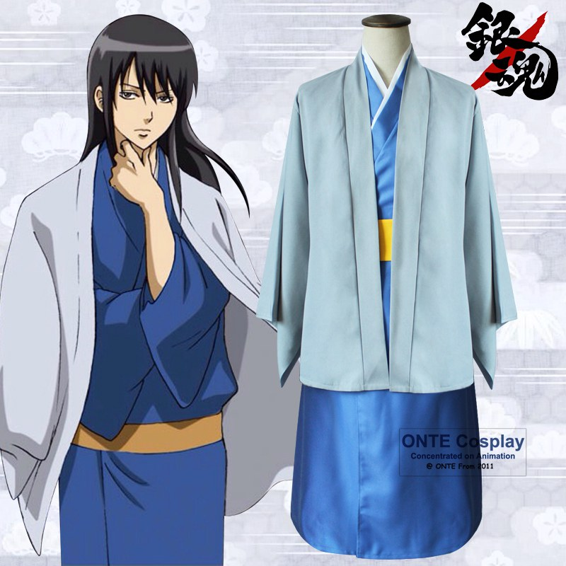 Anime GINTAMA Katsura Kotarou Cosplay Costumes Complete Outfit set Coat + Kimono + Belt for Halloween-in Anime Costumes from Novelty & Special Use    1