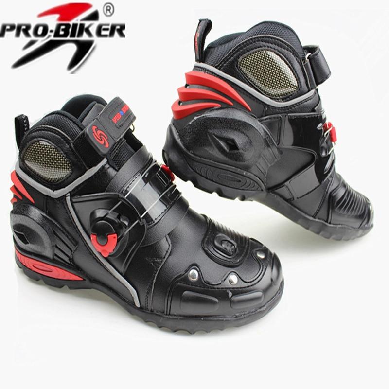 ФОТО  Professional Motorcycle Boots Pro-biker A9002 SPEED Moto Racing Motocross Motorbike Shoes Black Botas Men Off Road Boots