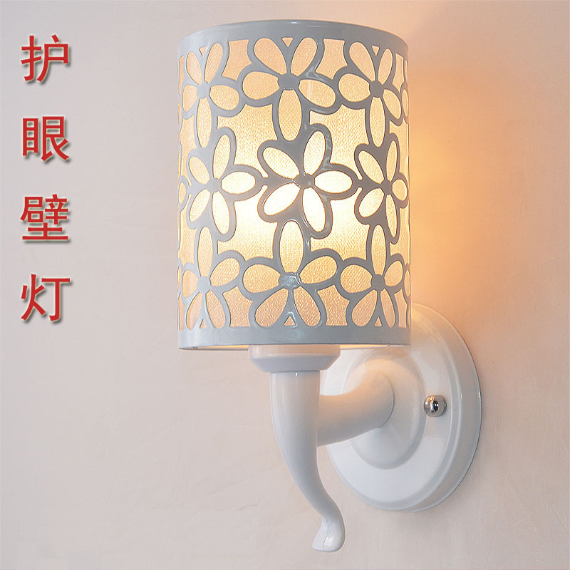Modern living room hallway wall lamp / LED indoor wall lamp bedroom hotel bedside reading lamp / creative wall lighting bjornled america wall sconce copper wall lamp 2 arm fabric shade light living room restaurant cafe bedroom hotel e14 led lamp