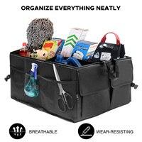 Черный складной Автомобильный задний багажник большой мешок для хранения карманы, органайзер для вещей портативный автомобильный большой ...