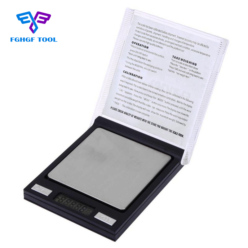 FGHGF 200g 0.01g Mini CD Case Digital Pocket Scale LCD Scale Precision Electronic Capacity Balance Diamond Jewelry Weighing Scal|lcd scale|digital pocket scale|pocket scale - title=