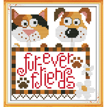 Forever friends Counted Cross Stitch Kit Patterns for Beginn