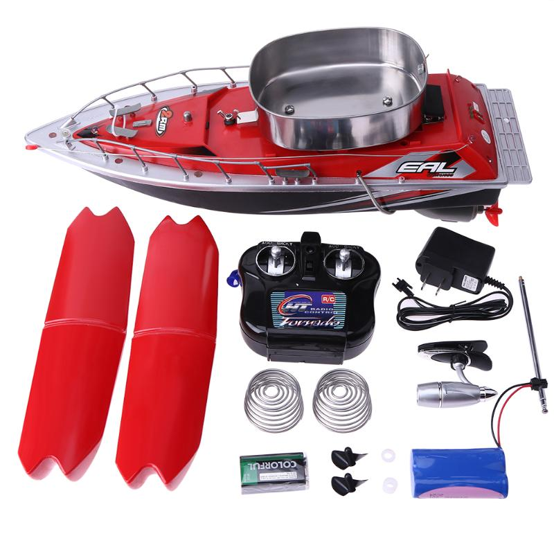 Mini Fishing Boat Fish Finder Wireless 300m Electric Remote Control Bait Boat Fish Finder 5,200mAh With Adjustable Lure Light