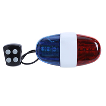 Bicycle Police Siren Bell 6 LED 4 Tone Bicycle Horn Bike Call LED Bike Light Electronic Siren Kids Accessories for Bike Scooter(China)