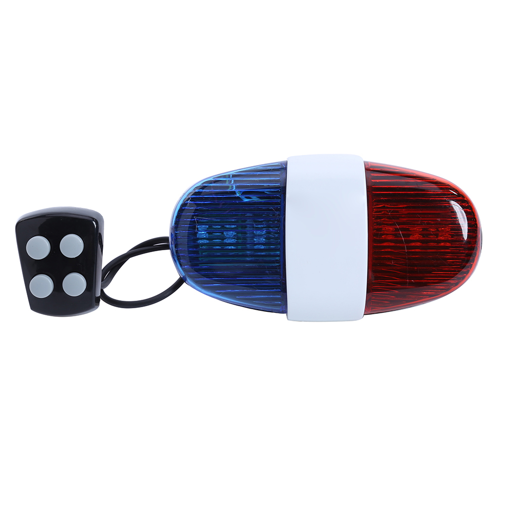 New Bicycle Bell 6LED 4Tone Bicycle Horn Bike Call Police Car LED Bike Light Electronic Siren Kids Accessories for Bike Scooter