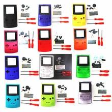 เคสเชลล์สำหรับ Nintendo สำหรับ GBC สำหรับ GameBoy คอนโซลสี + ไขควง + Rubber Pad