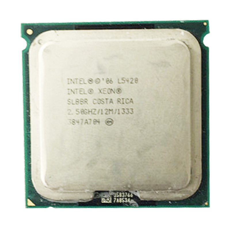 XEON l5420 CPU 2.5GHz /L2 Cache 12MB/Quad-Core//FSB 1333MHz/ server <font><b>Processor</b></font> working on some 775 socket mainboard image