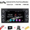 Android 8 0 Two Din 7 Inch Car DVD Player For Ford Focus Kuga Transit Bluetooth