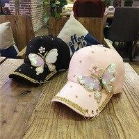 Hat female summer Korean version of the diamond baseball cap ladies visor cap sun hat