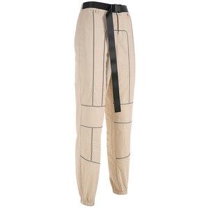 Image 5 - Sweetown רעיוני פס טלאים גותי מכנסיים מטען נשים Streetwear חדש הגעה 2019 גבוהה מותן מכנסיים עם Sashes