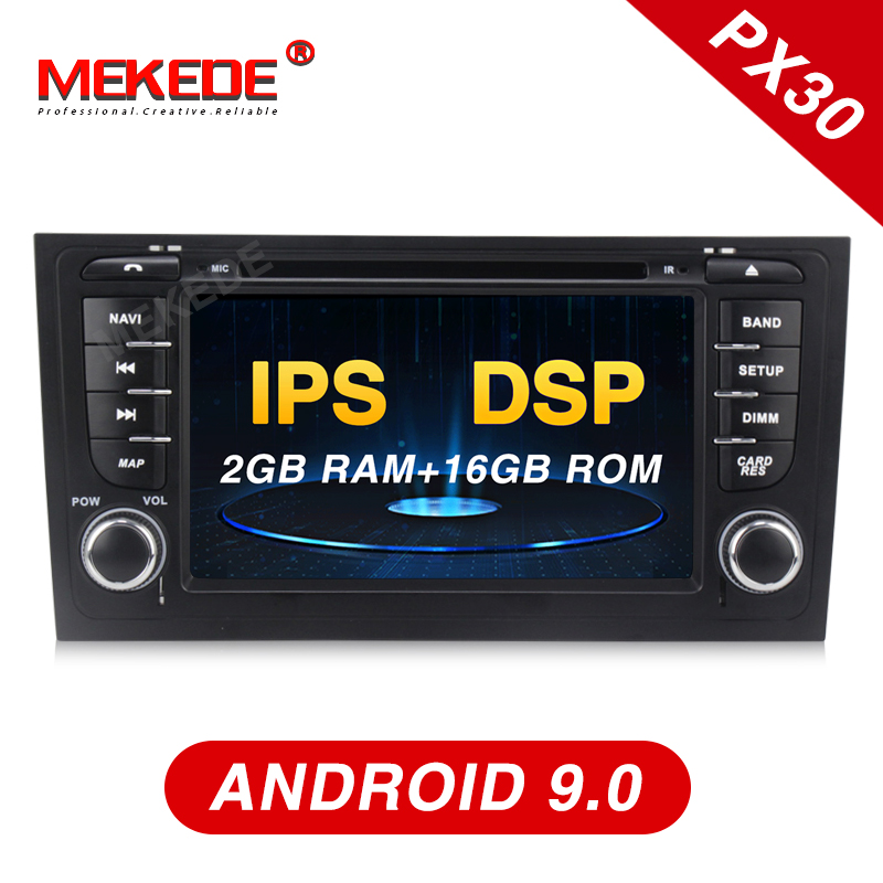 Mekede android9.0 Car Radio Multimedia Video Player Navigation GPS <font><b>Android</b></font> For <font><b>AUDI</b></font> <font><b>A6</b></font> 1997-2005 Allroad 2000-2006 with DSP IPS image
