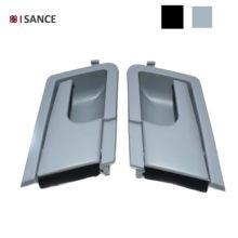 ISANCE-manija Interior para Interior de puerta, manija delantera izquierda + derecha, negra/gris, para VW, Volkswagen, Transporter, Caravelle T4, EuroVan