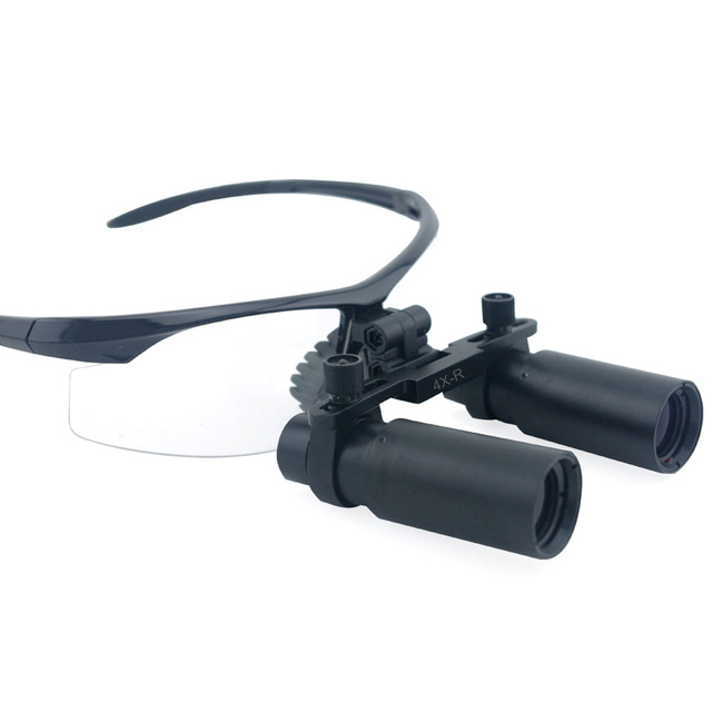 4.0x Magnification 360-460mm Distance Professional APD Loupes with Black BP Frame for Dental Surgical Jeweler or Hobby