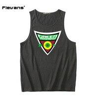 Flevans 2017 Men Summer Gyms Fitness Bodybuilding Tank Top Green Arrow Print Sleeveless Shirts Vest