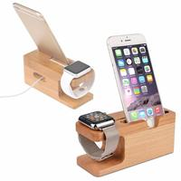 Carprie Nieuwe Hout Stand Laadstation Cradle Houder Voor IPhone Voor Apple Horloge dock Bamboe 17Dec06 Drop Schip F