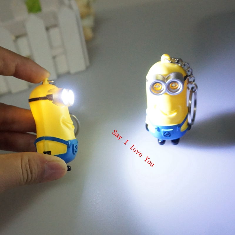 New arrive 3D <font><b>minions</b></font> LED Keychain <font><b>talk</b></font> <font><b>minions</b></font>, <font><b>Kevin</b></font> <font><b>minions</b></font> with sound,gift for lovers christmas gift 6#