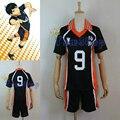 Nuevo Anime Haikyuu! Karasuno Secundaria #9 Kageyama Tobio Voleibol Camiseta Cosplay Traje Ropa Deportiva Uniforme Tamaño Ml XL XXL