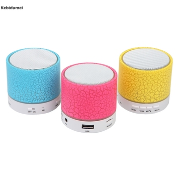 LED MINI Bluetooth Speaker A9 TF USB FM Wireless Portable Music Sound Box Subwoofer Loudspeakers For Mobile phone PC with Mic computer speaker