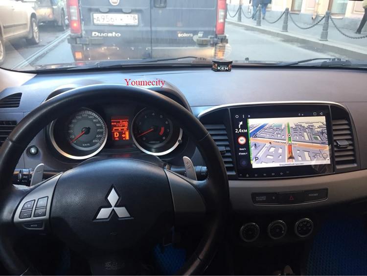 人気 2008-2015 三菱ランサーラジオビデオプレーヤー容量性スクリーン GPS 21