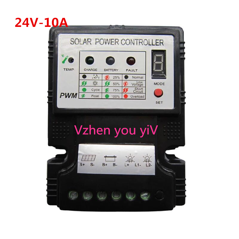 Photosynthetic silicon solar energy charge controller 24v10a, home road light, volt plate power generation, lithium battery pack free customs taxes 60v 30ah high power rechargeable 26650 battery pack 60 volt 3000w lithium battery for solar system ups