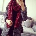 Горячая распродажа вязаный шарф зимы плюс толстый шарфы градиент теплая женская шарфы модный дизайнер марка bufandas WJ044