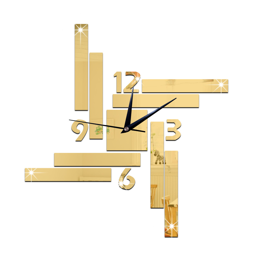 2016 new Large 3D Wall Clock Modern Design Watch Home Decoration ...
