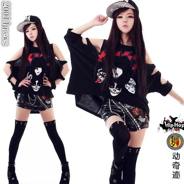 2016 spring plus size women summer strapless batwing shirt loose half-sleeve t-shirt short-sleeve harajuku hip hop off shoulder