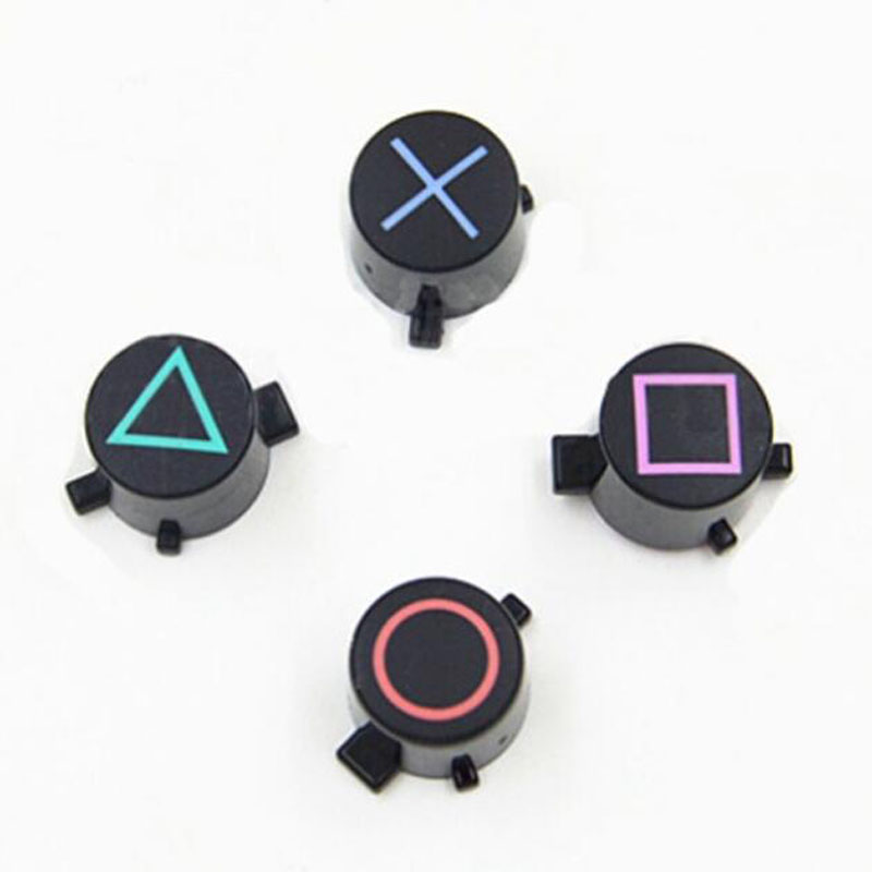 4 Repair Part Replacement For Sony Playstation Dualshock 4 3 DS4 PS3 PS4 Gamepad Controller Circle Square Triangle ABXY X Button