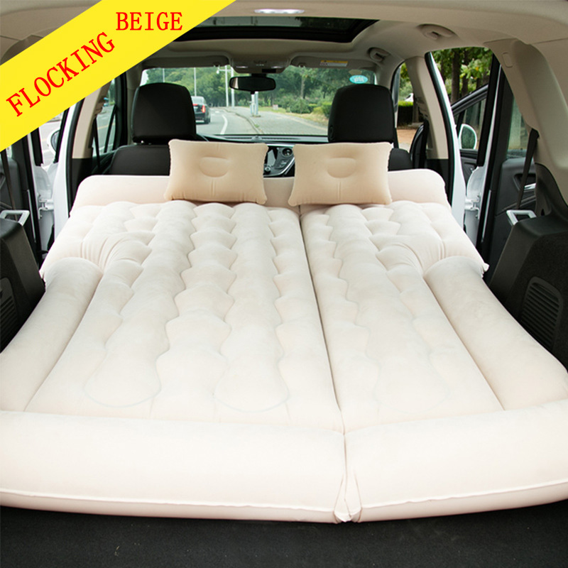 SUV Mattress Air bed Portable Car Bed for Outdoor Traveling Air Bed Travel Inflation Mattress Back Seat Free Electric Air Pump car air mattress travel bed car back seat cover inflatable mattress air bed good quality inflatable car bed for camping khaki