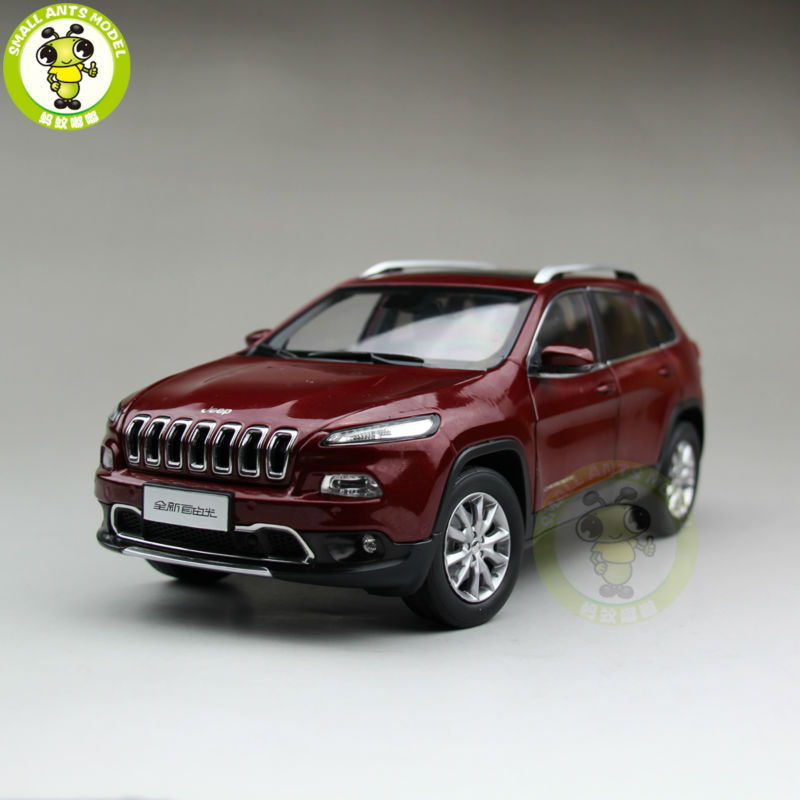 1/18 Jeep Cherokee Diecast Metal Car Suv Model Collection Gift Red Color 1 18 vw volkswagen teramont suv diecast metal suv car model toy gift hobby collection silver