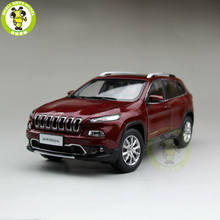 1/18 Jeep Cherokee Diecast Metal Car Suv Model Collection Gift Red Color(China)