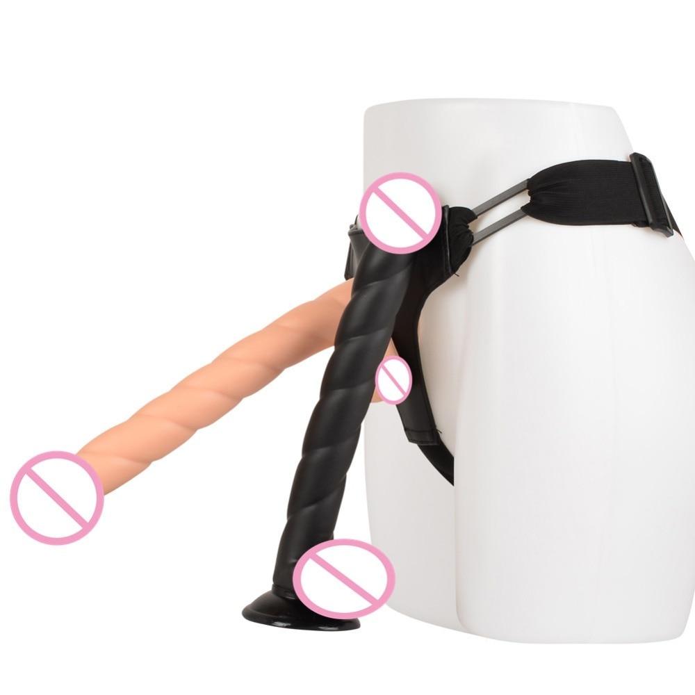 Sangle sur Long godemiché spirale pénis artificiel Strapon culotte gode pour femmes lesbienne fausse bite gros gode Strapon pour hommes Gay