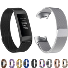 Suitable for Fitbit Charge3 Milan Straps For  Milanese Magnetic Metal Loop Steel Belt