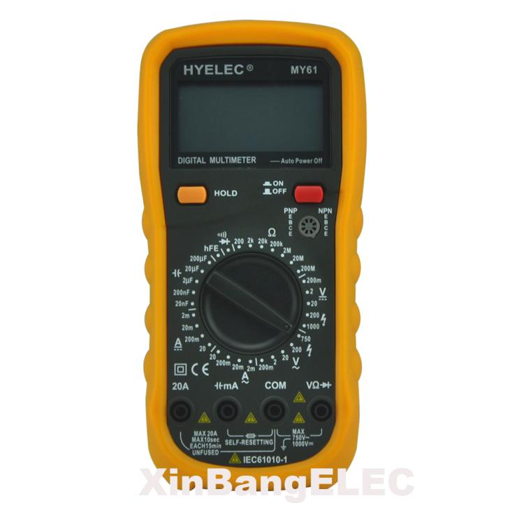 Digital Multimeter w/ Capacitance & Transistor Test Analog Multimeter LCR Meter Ammeter Multitester hyelec ms89 2000 counts lcr meter ammeter multitester multifunction digital multimeter tester backlight capacitance inductance page 5