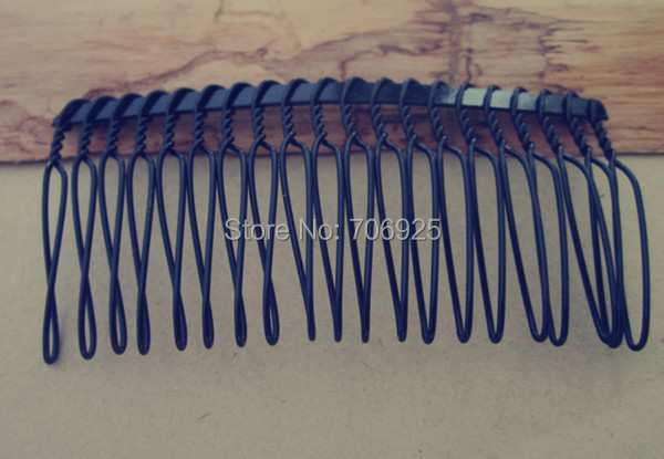 40 Pcs lot 39mmx75mm 20teeth Black Iron Hair Combs in Hair Jewelry from Jewelry Accessories