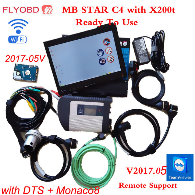 09/2017 MB C4 SD Connect Star Diagnosis System with Vediamo &DTS Monaco8 And X200T Laptop for MB STAR C4 Xentry Diagnostic-Tool