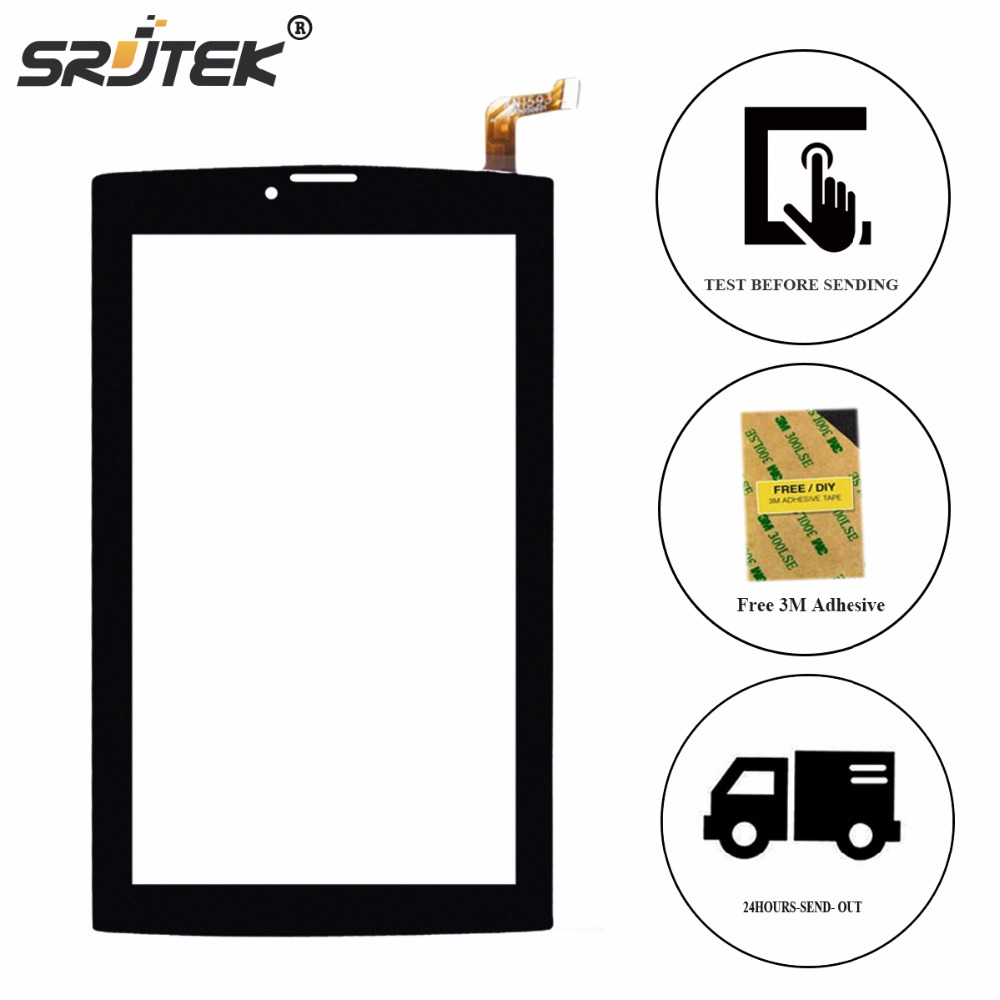 Srjtek Screen 7 For Ginzzu GT-W170 GT W170 Touch Screen Digitizer Glass Panel Sensor Tablet PC Replacement Parts carbon fiber telescopic tube clamp house pipe clamp d30mm horizontal folding tube clamp uav arm tube set cnc aluminum alloy