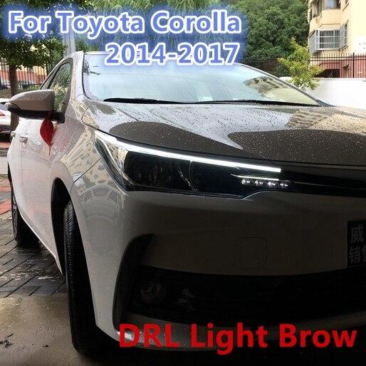 Aliexpress.com: Compre Sobrancelha Luz LED DRL Para Toyota Corolla 2014 2015  2016 2017 Altis Novo Eye Brow Luz CONDUZIU A Lâmpada De Sinal Externo ...
