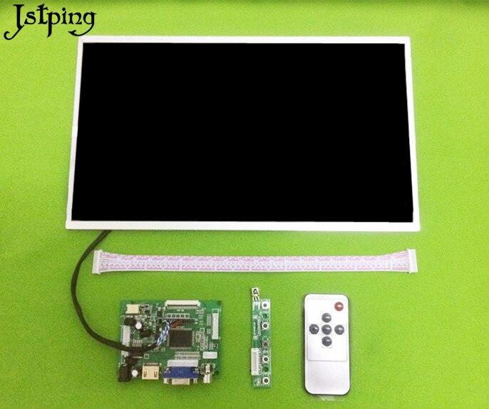 Jstping 14 pouces 1366*768 haute grande taille LCD écran moniteur contrôle carte pilote HDMI VGA 2AV pour framboise banane Pi