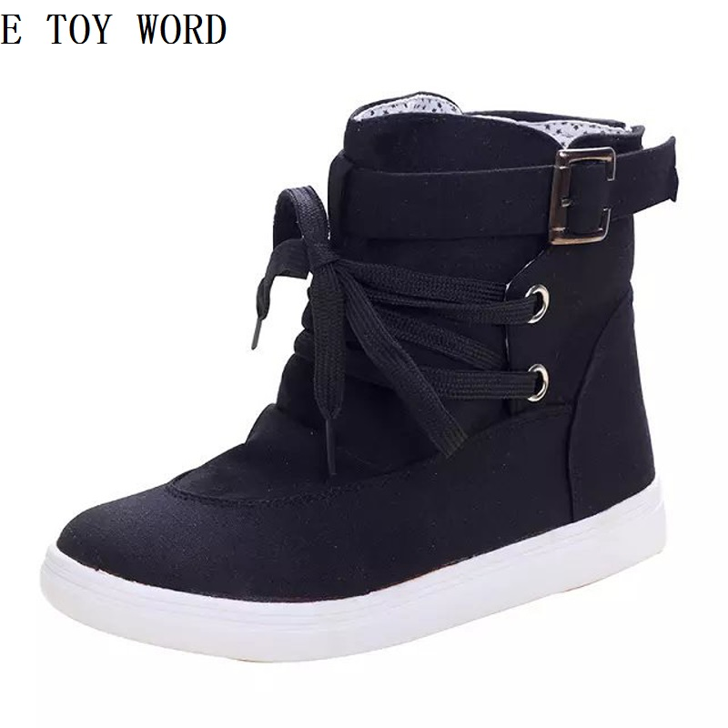 ETOYWORD 2018 high school of autumn wind help canvas shoes female han edition tide student sandals breathable leisure shoes e toy word canvas shoes women han edition 2017 spring cowboy increased thick soles casual shoes female side zip jeans blue 35 40