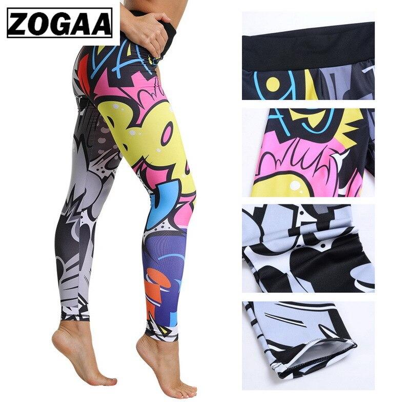 ZOGAA Women Leggings Printed Fitness Slim Leggins Female Workout Legins Trousers For Women Fitness Clothing Leggins Mujer