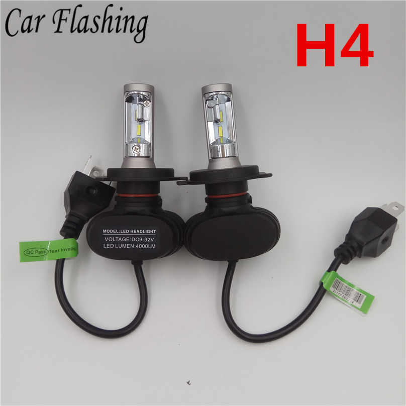Car Flashing 1set S1 H1 Bulb H7 H11 H4 9005 9006 LED Headlight 50W 8000LM Auto N1 HB4 Auto HB3 Bulb Fog Light 6500K CSP Lamp