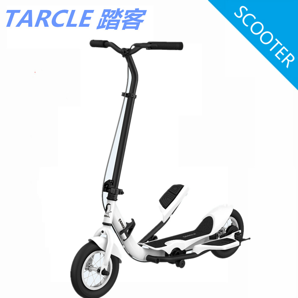 Tarcle 10 inch air wheel pedal fold scooter fitness stepper carbon scooter 22km h
