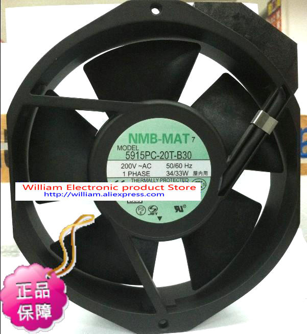 все цены на  New Original NMB 5915PC-20T-B30 172*38MM AC200V 34W axial cooling fan  онлайн