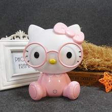 New Cartoon Lamp Rabbit Night Light Led Christmas birthday Gift Bedside Decor Kids Baby Bedroom Glasses Rabbits
