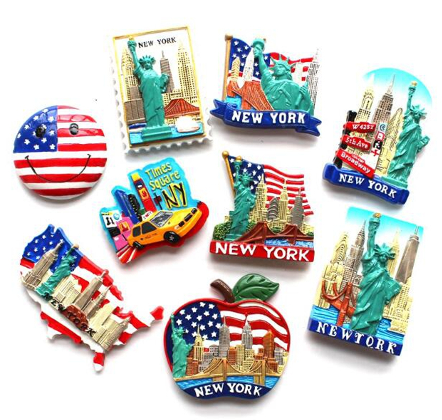 Statue Of Liberty New York USA Tourism Souvenir 3D Fridge Magnets Creative Home Decortion Refrigerator Magnetic Stickers Gift Щенячий патруль